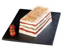 Goat's Milk Cheese terrine and Dry Tomatoes